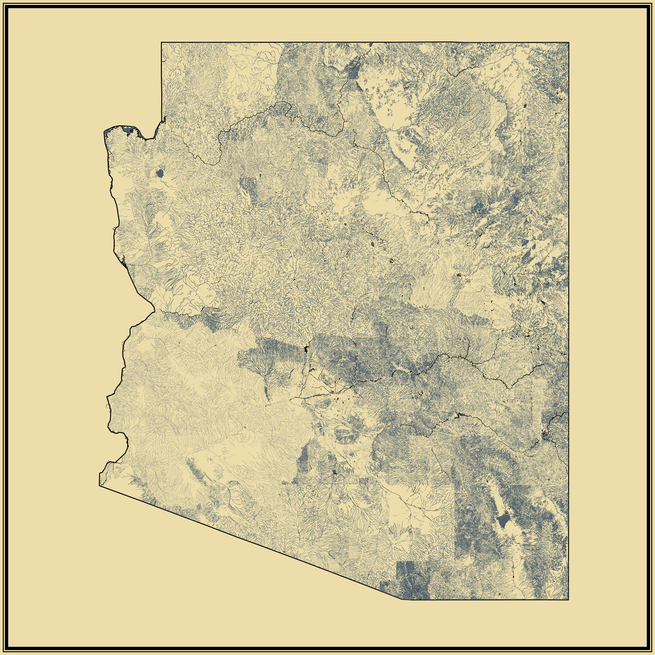 Streams And Waterbodies Statistical Atlas Of The United States - Us map with water bodies